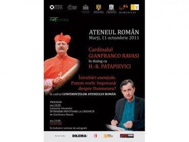 Cardinalul Gianfranco Ravasi in dialog cu Horia-Roman Patapievici