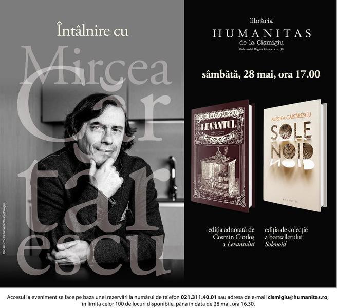 Intalnire cu Mircea Cartarescu si invitatii sai