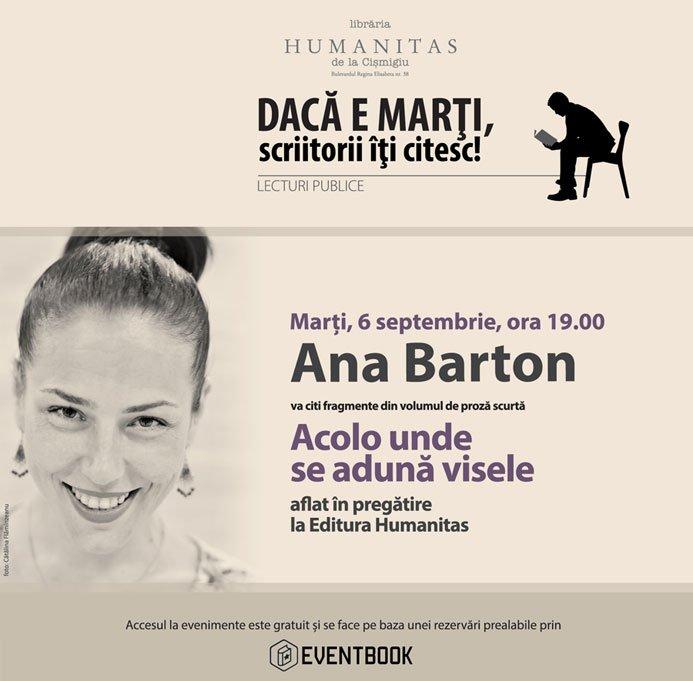 Ana Barton, lectură în premieră