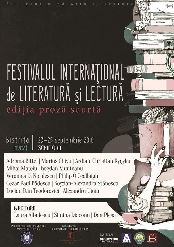 Ediţia proză scurtă a Festivalului Internaţional de Literatură şi Lectură