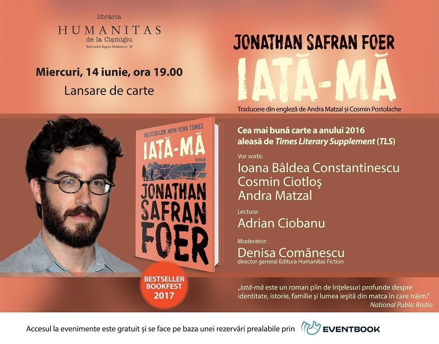lansare roman Jonathan Safran Foer