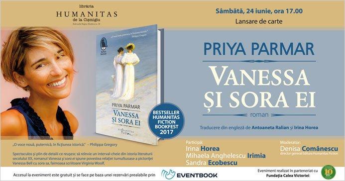 Lansare carte Priya Parmar, Vanessa și sora ei