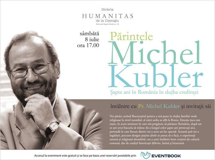 Intalnire cu Părintele Michel Kubler la Librăria Humanitas